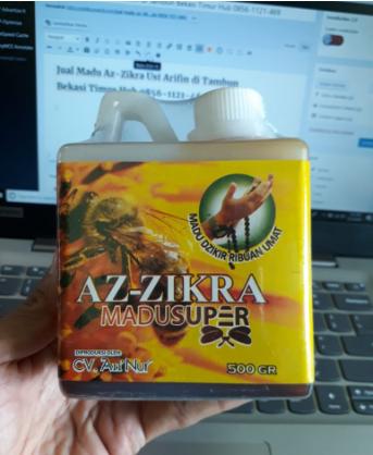 Jual Madu Az-Zikra Ust Arifin di Tambun Bekasi Timur Hub 0856-1121-469