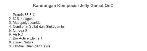 komposisi jelly gamat qnc