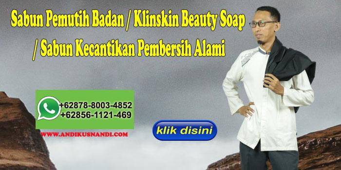 Sabun Pemutih Badan Klinskin Beauty Soap Sabun Kecantikan Pembersih Alami