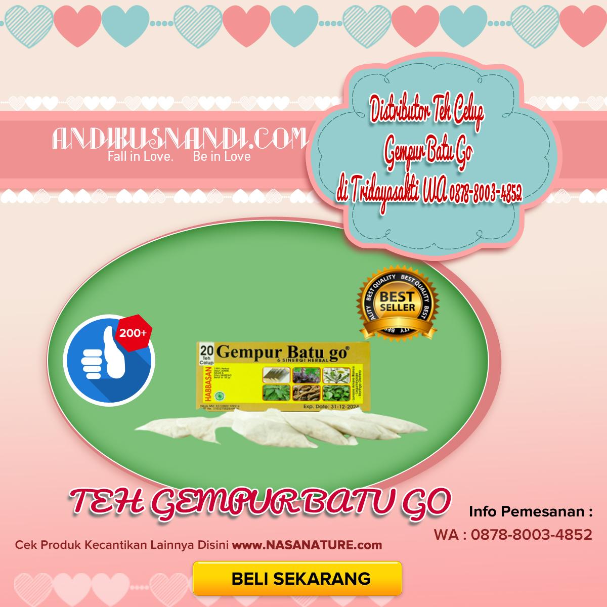 Distributor Teh Celup Gempur Batu Go di Tridayasakti WA 0878-8003-4852