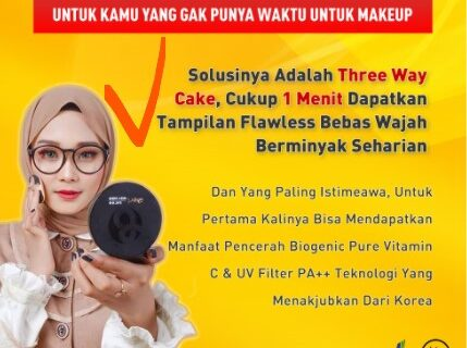 BEDAK PADAT B Erl Three Way Cake Bedak Tabur Compact Powder