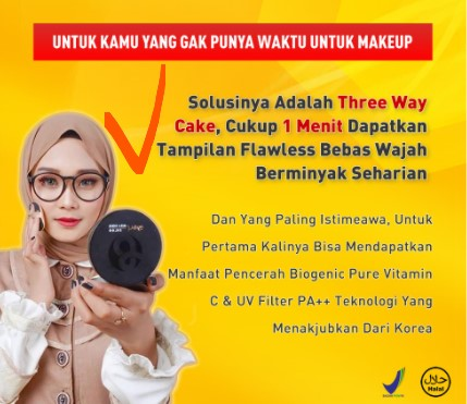 BEDAK PADAT B Erl Three Way Cake / Bedak Tabur / Compact Powder
