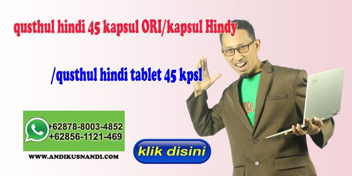 qusthul hindi 45 kapsul ORI/kapsul Hindy /qusthul hindi tablet 45 kpsl